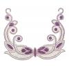 Motif Collar Hot-fix Round 22x18cm Purple